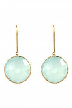 gold plated #aqua #calcedony earrings I designed for NEW ONE I NEWONE-SHOP.COM