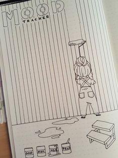 Easy Bullet Journal, So gestalten Sie das kreative Leben kreativ - Tricot Easy Bullet Journal, How to design creative life creatively Projects Bullet Journal Tracker, Bullet Journal Notebook, Bullet Journal Ideas Pages, Bullet Journal Spread, Bullet Journal Inspo, Bullet Journal Layout, Journal Pages, Bullet Journal August, Bullet Journals