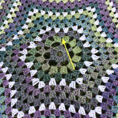 Star Crochet blanket free pattern
