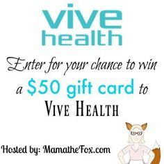 Vive Health $50 Gift Card Giveaway