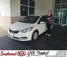Congratulations to Stephanie Shrode on your #Kia #Forte from Clinton Miller at Southwest Kia Mesquite! #NewCar