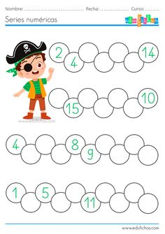 First Grade Math Worksheets, Preschool Worksheets, Kindergarten Activities, Numbers Kindergarten, Numbers Preschool, Pattern Worksheet, Flashcards For Kids, English Worksheets For Kids, Kids English