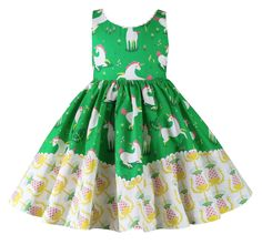 14db63dea5c Buy Unicornland Green Dolores Park Dress at Little Miss Marmalade for only   42.00