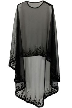Bhaavya Bhatnagar presents Black floral beads embroidered cape available only at Pernia's Pop Up Shop. Bridal capelet Bridal cover up Lace cover up by HanakinLondon Not departs but quite close to the idea. Cape/ kind of shrug Discover thousands of images Cape Dress, New Dress, Dress Prom, Chiffon Dress, Chiffon Blouses, Abaya Fashion, Fashion Dresses, Designer Wear, Designer Dresses