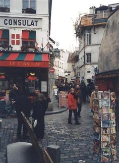 The streets of the Montmarte district in the north of Paris