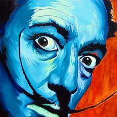 Electric Dali.  Acrylic on Canvas.  #ComaFree #Art #Painting #Dali