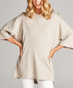 Another great find on #zulily! Oatmeal Dolman Tunic #zulilyfinds