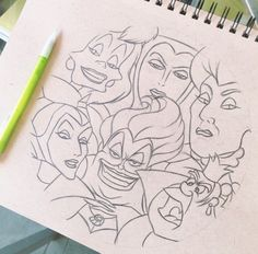 Disney villain drawing