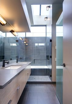 Large and Neutral Tiles Contemporary Shower Tiles Ideas