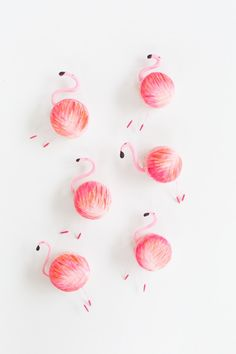 DIY flamingo macarons   sugar & cloth