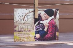 Love the old fashioned postcard save the dates