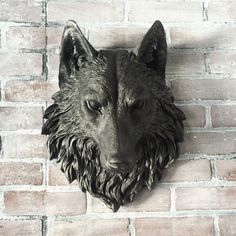 ANY COLOR  or BLACK Wolf Head Wall Mount / Faux Taxidermy // 3d Wall Art // Man Cave // Nursery Wall Decor // Animal Head // Game of Thrones