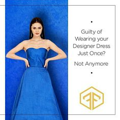 You don't want to buy an expensive designer outfit just to wear it once, right? So why not #RentTheRamp and flaunt a new dress each time.  #OTR #OffTheRamp #DesignerOutfit #myotr