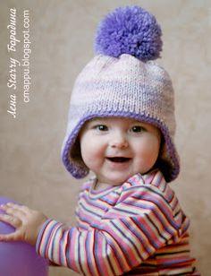 Детская зимняя шапочка с ушками / как связать шапочку для мальчика спицами с ушками - на бэби.ру