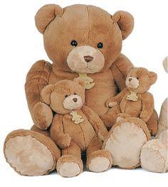 Peluche Calin'ours géant marron 80 cm en peluche #teddy #nounours #doudou