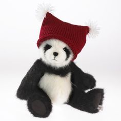 Boyds Plush Holiday Heirloom - Cody the Panda in Knit Hat ** Unbelievable  item right here! : Collectible Dolls for Home Decor