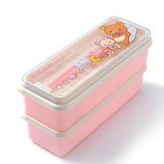 Rilakkuma Mini Bento Box w/ Chopsticks Japanese School Supplies, Kawaii Crush, Cute Bento Boxes, Stationary School, School Accessories, Kawaii Room, Cute Kitchen, Mode Shop, Cute Stationery