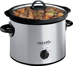 Crock-Pot - 3 Qt. Slow Cooker - Stainless/Black, SCR300-SS