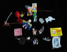 Vintage Toy Lot Goofy Teeth New Tricky Pencils Baby Doll Men With Bicycles Elephant + #toys #collectibles #collectables #vintagetoys
