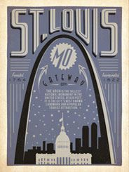 St. Louis: Print Shop - NEW Print Shop Poster Series     Saint Louis, MO: The Print Shop Series  features poster art created in limited color palettes commonly used by 19th & 20th Century letterpress print shops. These original prints are inspired by classic travel posters from the 1920s to the 1940s that celebrated the history and charm of America's greatest cities.