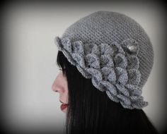 Crocodile Stitch Flapper Hat - Crochet PDF Pattern | Bonita Patterns