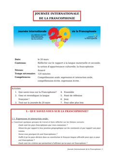 journee-internationale-de-la-francophonie by guestab03e8 via Slideshare