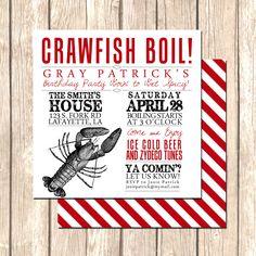 Crawfish Boil or Clambake Invitation Perfect by VivaLaLovely. $1.75 USD, via Etsy.