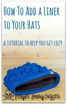 How to add a fleece liner to your crocheted hats ::Jo::