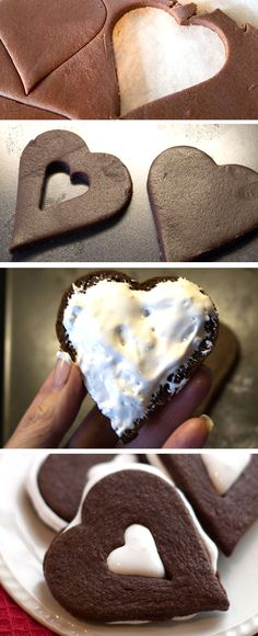 Chocolate Marshmallow Linzer Cookies - Erren's Kitchen