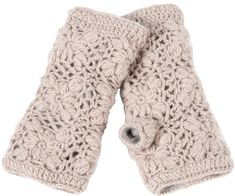 Nirvanna Designs MT13F Flower Crochet Hand Warmers, Oatmeal -- Want to know more, click on the image.