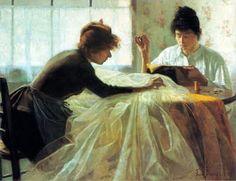 Eva Bonnier (French artist, 1857-1909) Couturieres 1887
