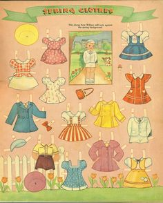 Picture cutouts paper doll Spring