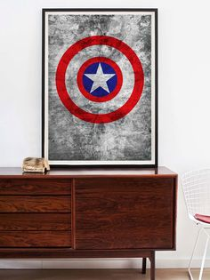 CAPTAIN AMERICA: Poster A1 or A2 Limited Edition.. $32.50, via Etsy.