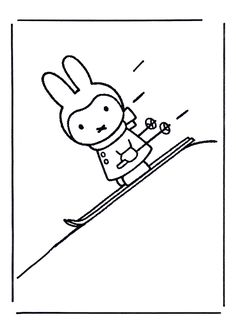 ski inkleurplaat Cartoon Coloring Pages, Coloring Books, S Ki Photo, Ski Card, Ski Wedding, Bunny Drawing, Ski Posters, Stocking Pattern, Ski Holidays
