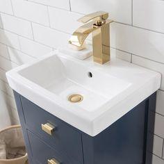Half Bathroom Remodel, Small Bathroom Sinks, Small Sink, Tiny Bathrooms, Upstairs Bathrooms, Single Bathroom Vanity, Small Vanity Sink, Small Narrow Bathroom, Small Vintage Bathroom