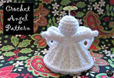 Make this beautiful Angel to decorate your tabletop or your Christmas Tree! Get your free copy of this pattern right here!