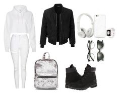 """""""First day of  school"""" by alize-jimenez on Polyvore featuring LE3NO, Timberland, ZeroUV, Topshop, River Island, Ray-Ban and Beats by Dr. Dre"""