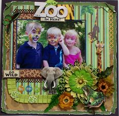 It's a Zoo In Here Scrapbook Layout