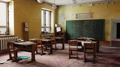 Classroom by Michelle Jung | Realistic | 3D | CGSociety