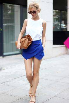 Culotte Shorts Mini Skort colors available) – Glamzelle Blue Skirt Outfits, Summer Outfits, Cute Outfits, Summer Clothes, Envelope Skirt, Shorts Negros, Skort Outfit, How To Wear Shirt, Culotte Shorts