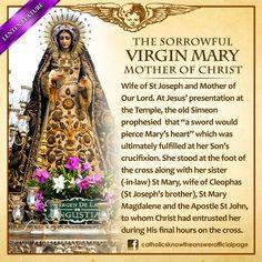 The Sorrowful Mother Mary Catholic Lent, Catholic Theology, Catholic Catechism, Catholic Answers, Catholic Religion, Catholic Prayers, Catholic Saints, Roman Catholic, Mother Of Christ