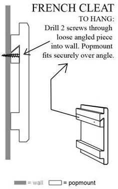 Everything in my childhood garage was hung using a French cleat. They provide significant mounting strength regardless of stud spacing and availability. Easily created by ripping a wood strip and attaching it to the wall with screws and then creating a similar mating surface on the workpiece.