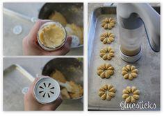 Gluesticks: Christmas Spritz Butter Cookies; cookie press