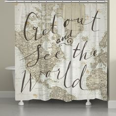 Ambesonne Old Maps Decor Large Vintage Map of the World P http
