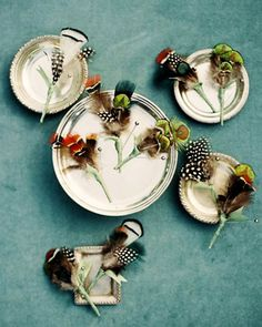 diy+pheasant+boutonnieres+for+weddings | Trend Alert: Decorate With Enchanting Feathers | OCCASIONS