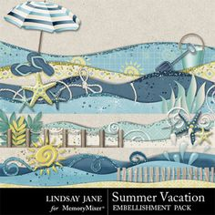Summer Vacation Borders Scrapbook Page Design - MemoryMixer& Beach Scrapbook Layouts, Album Scrapbook, Scrapbook Borders, Vacation Scrapbook, Scrapbook Embellishments, Scrapbook Sketches, Scrapbook Paper Crafts, Scrapbooking Layouts, Digital Scrapbooking