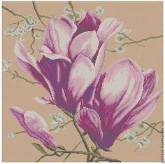 """Схема для вышивания бисером """"Розовая магнолия"""" - схема вышивки бисером"""