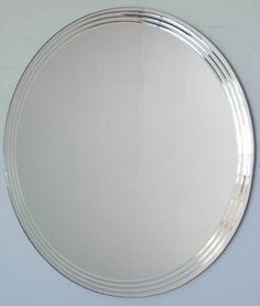 Style Crystal Round Bathroom Mirror