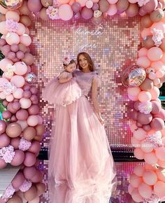 Balloon Arrangements, Balloon Decorations, Birthday Decorations, Sequin Wall, Sequin Backdrop, Fashion Show Themes, Fashion Show Party, Small Balloons, Pink Balloons