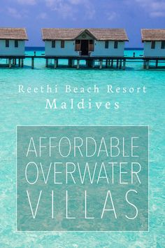 Discover what it's like to stay in an overwater villa in the Maldives. Reethi Beach Resort has some of the most affordable overwater bungalows in the country. Read the full review for details.